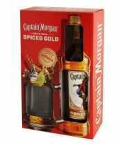 Captain Morgan Gold Spiced + 1 pohár 0,7l (35%)