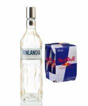 Finlandia 0,7l (40%) + Red Bull 4x 250ml