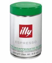 Illy Espresso Caffé decaffeinated káva bez kofeínu zrnková 250g